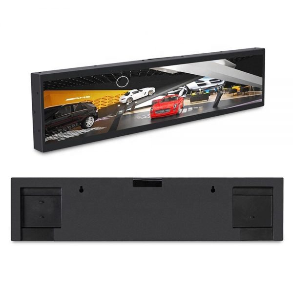 12.2 inch supermarket ultra wide stretched bar lcd monitor commercial screen shelf advertising display size 304X65mm