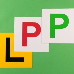 car safety sign P and L plate magnetic car sticker
