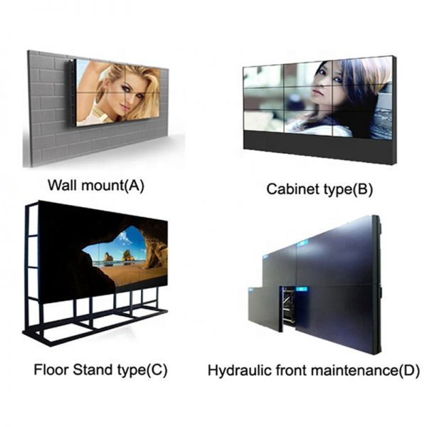 LCD video wall 49 inch 3.5mm DID bezel 3x3 2x2 types ultra narrow bezel monitor tv cctv room meeting room