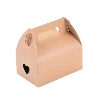 PYC Custom Food Grade Disposable Brown Kraft Cardboard Boxes Bento Lunch Food Handle Paper Box/Pail