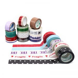 Custom logo printed packaging adhesive branded packing tape for carton sealing
