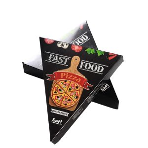 PYC Custom Cheap Price Art Paper Triangle Printed Pizza Box Food Packing Boxes For Sale