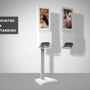 digital signage kiosk android screen hand sanitizer lcd advertising player market